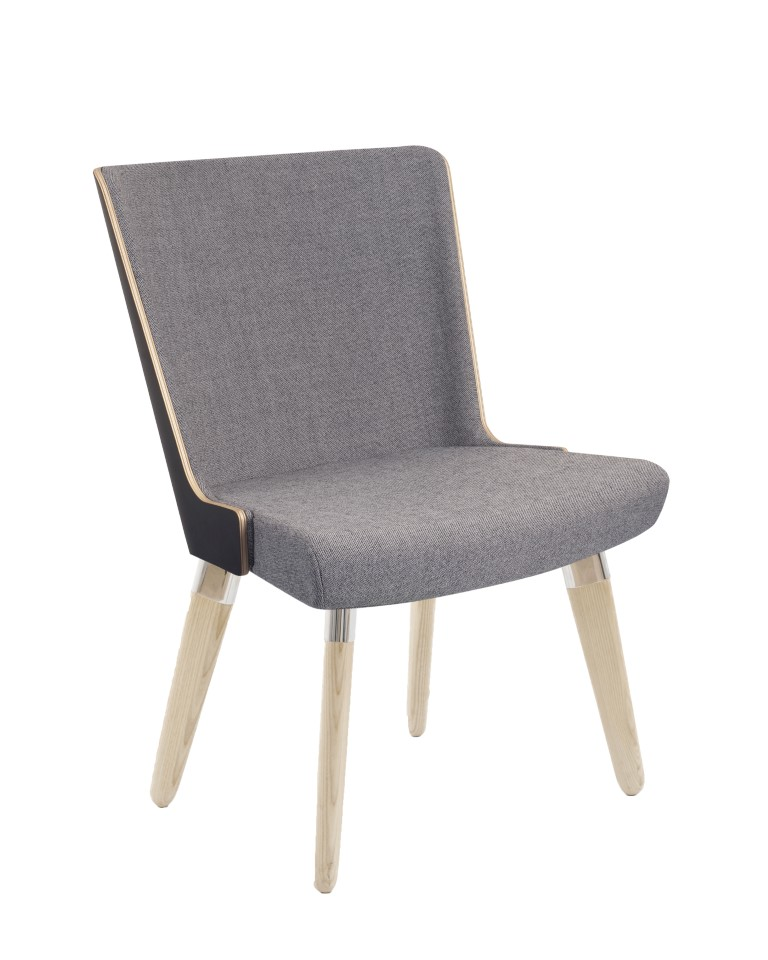 Skapa Laminate Back Armchair – 4 Leg Base