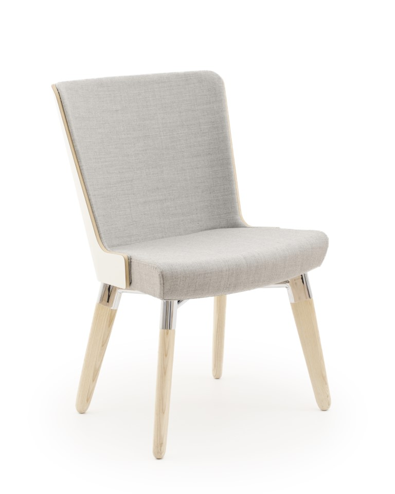 Skapa Laminate Back Side Chair – 4 Leg Base
