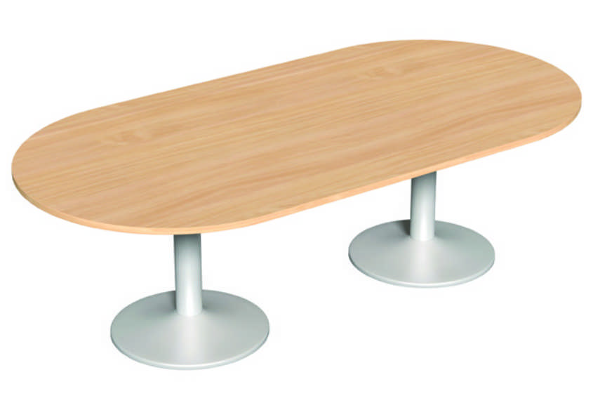 Round Meeting Table - 1200mm- Beech Panel