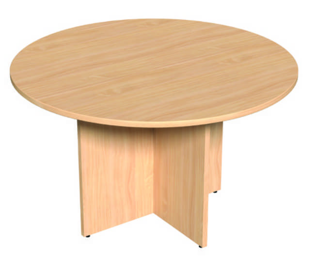Round Meeting Table - 1000mm- Beech Panel