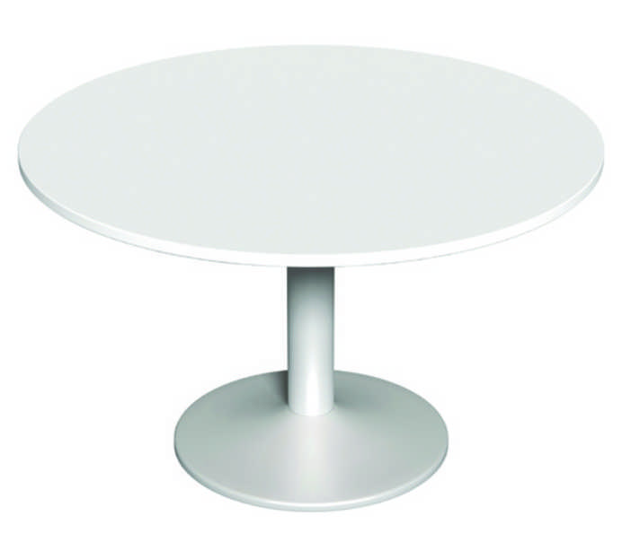 Round Meeting Table White - 1200mm