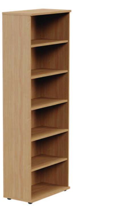 Kito High Open Storage Unit Beech - 6 Levels- 2210mm
