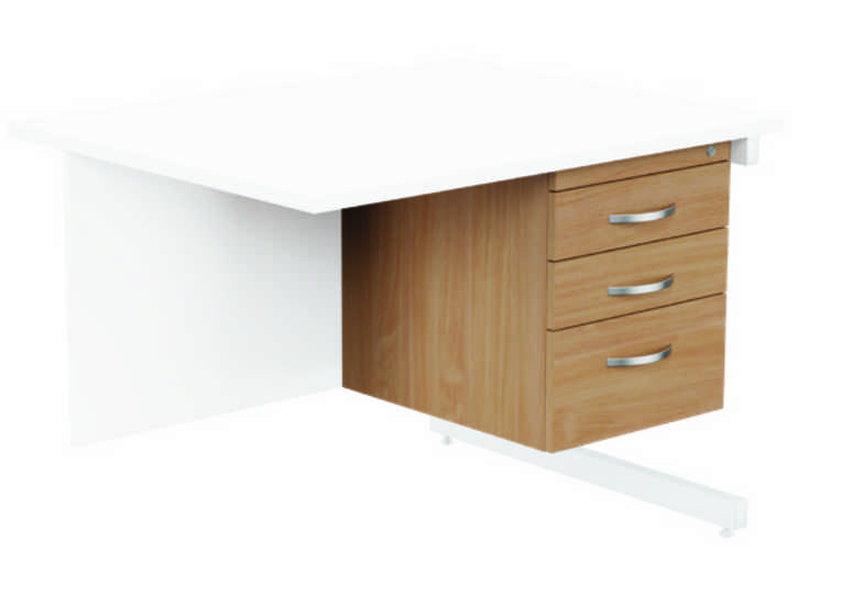 Kito Fixed Pedestal - 3 Drawer Beech
