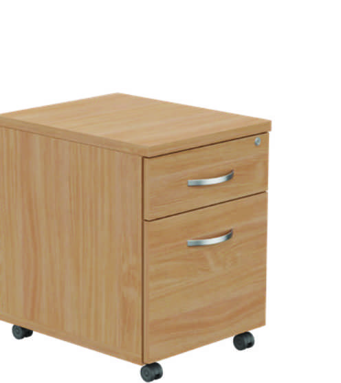 Kito Mobile Pedestal - 2 Drawer Beech