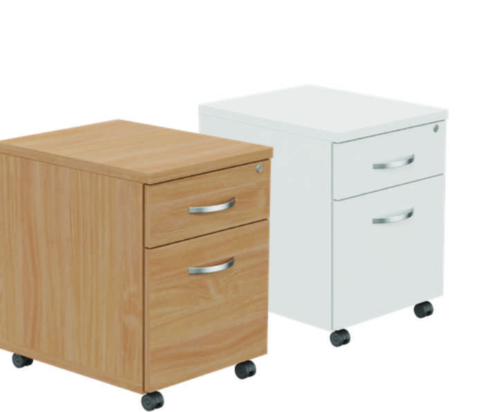 Kito Mobile Pedestal - 2 Drawer White