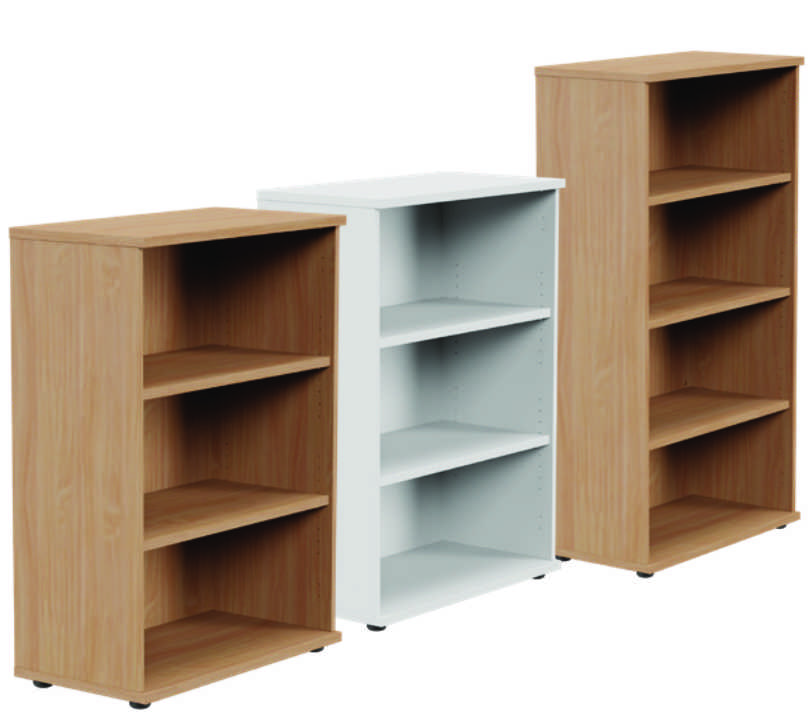 Kito Medium Open Storage Unit Beech - 3 Levels- 1130mm 1