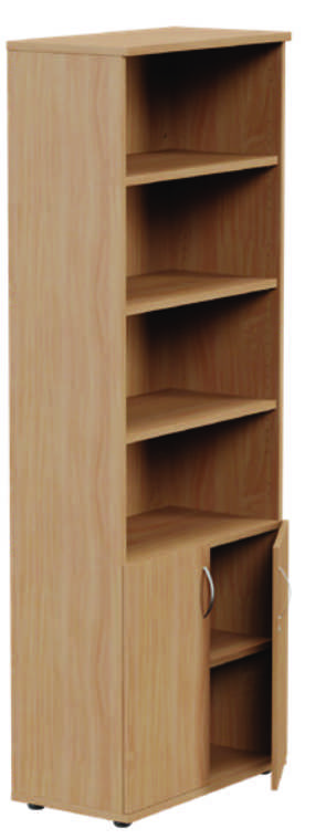 Kito Part Closed Storage Unit Beech - 6 Levels 1