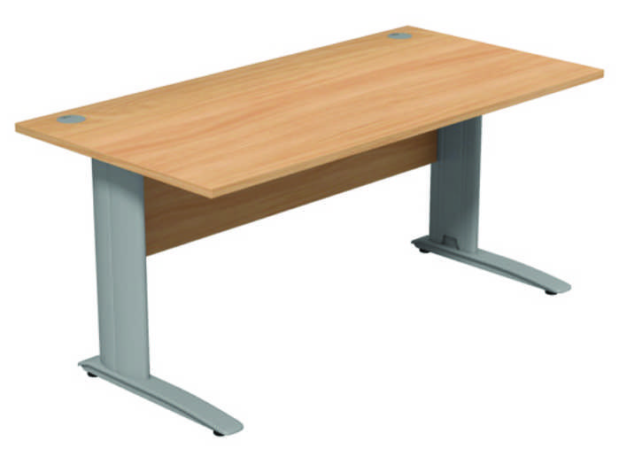Komo Straight Desk - Beech Panel -1200mm
