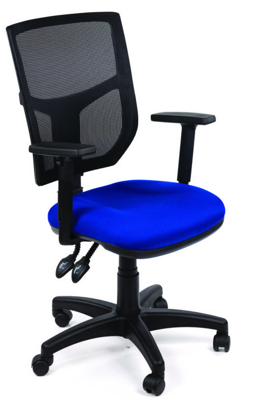 OA Mesh Operator Seat - Evert Blue Arms On