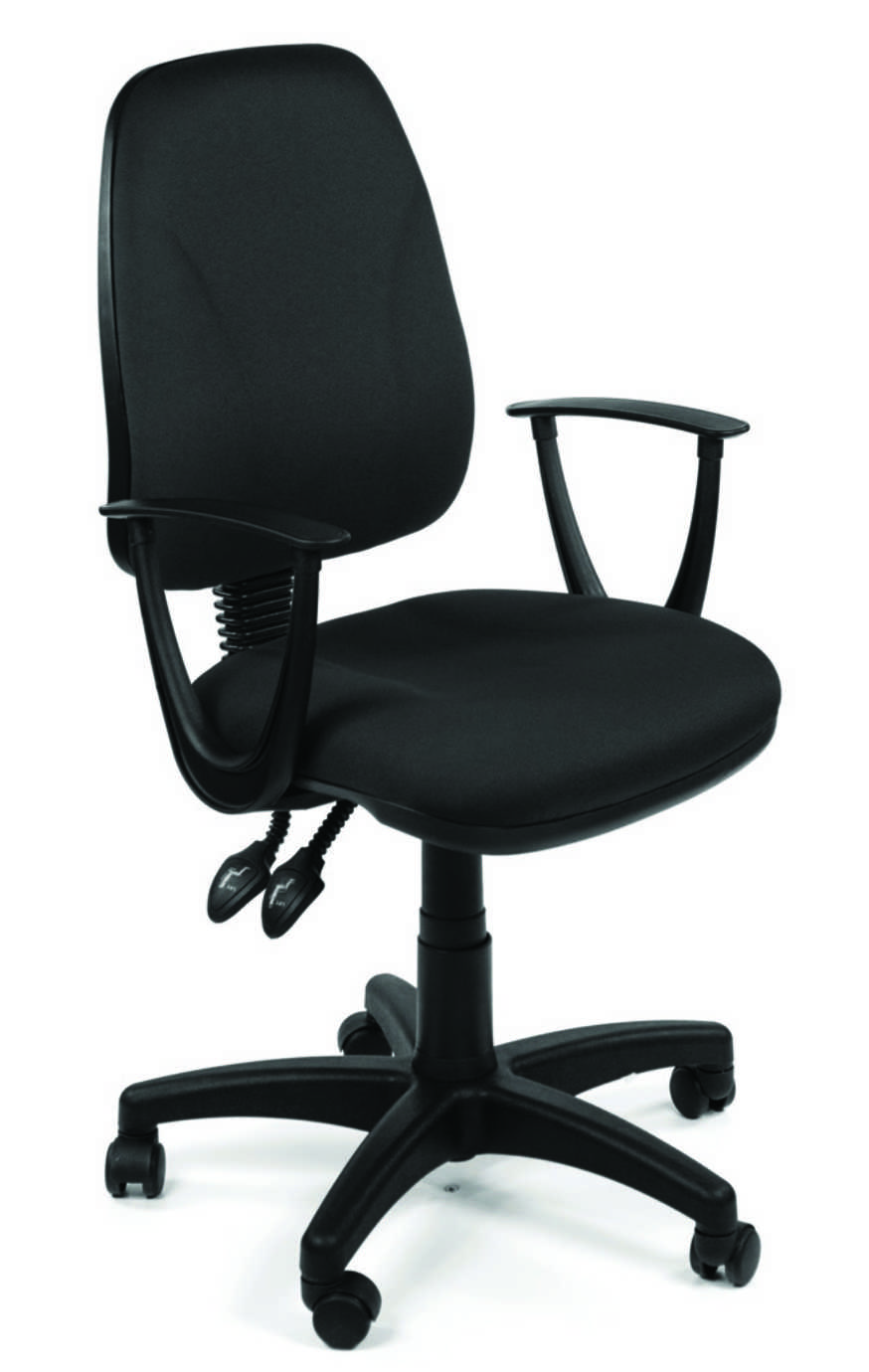 OA Task Operator Seat - Black Fabric Arms Step