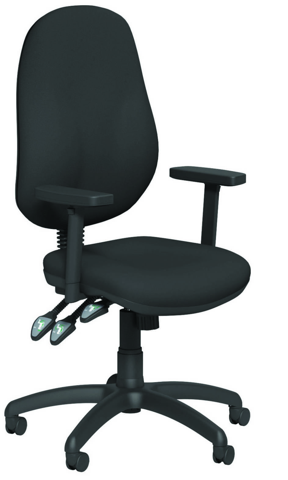OB Series Operator Seat - Evert Blue Arms On