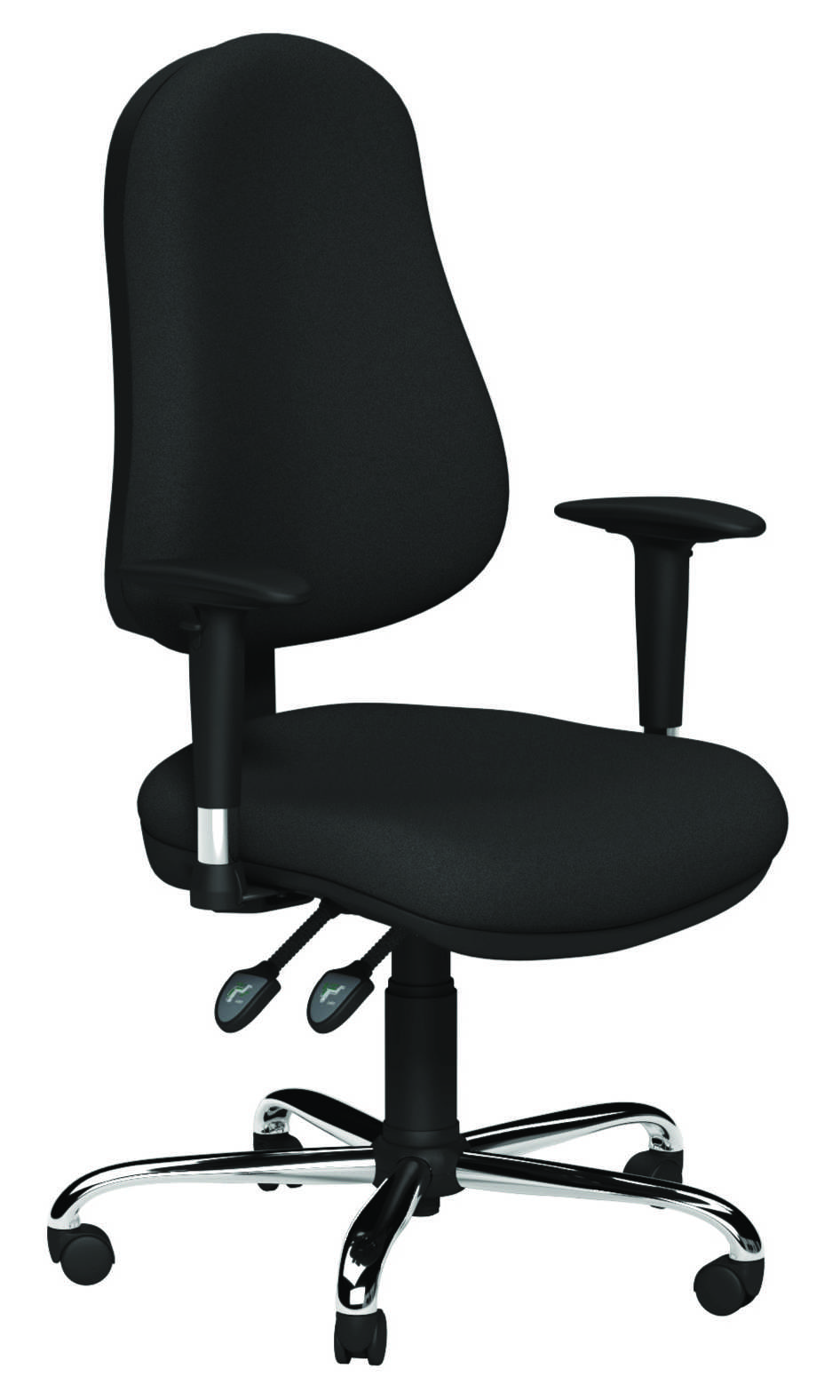 OE Series Operator Seat - Evert Blue Arms Rest