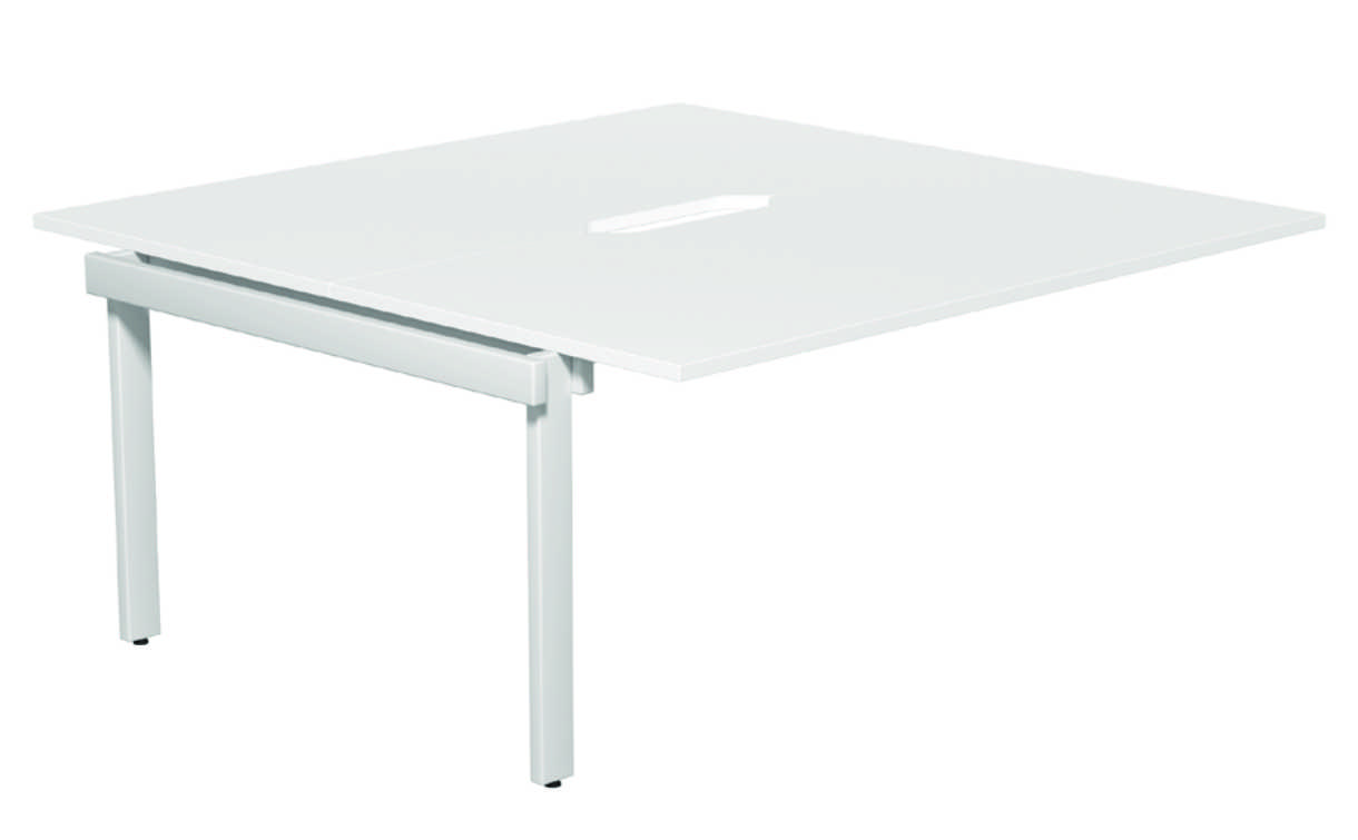 Switch 2 Person Bench Add-on  Scallop - White - 1400mm 1