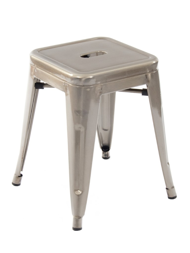 Paris Low Stool (Gunmetal)