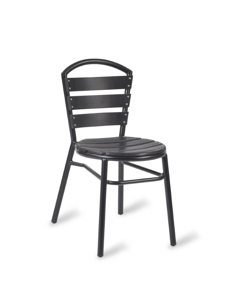 Nice Side Chair – No Wood Black Frame