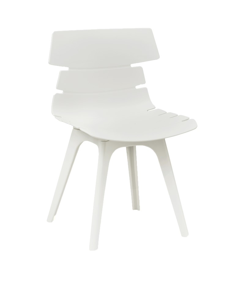 Hoxton Side Chair – R Frame White 1