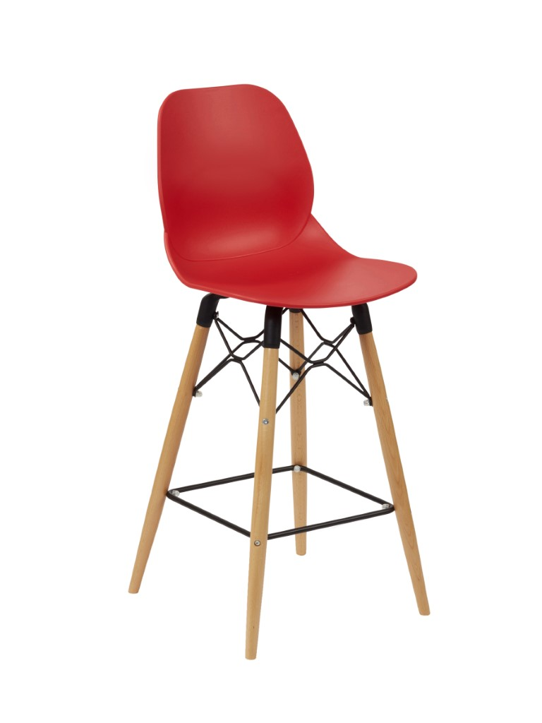 Shoreditch Mid Height Stool Beech 1