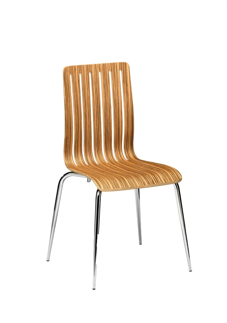 Lucca Side Chair (Zebrano) 1